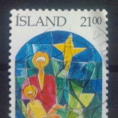 Sellos: ISLANDIA 1989 NAVIDAD SELLO USADO. Lote 232778115