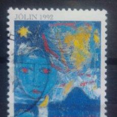 Sellos: ISLANDIA 1992 NAVIDAD SELLO USADO. Lote 232778150