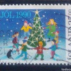 Sellos: ISLANDIA 1990 NAVIDAD SELLO USADO. Lote 232778160