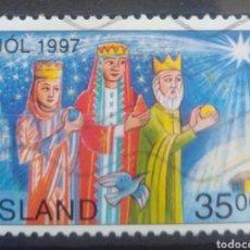 Sellos: ISLANDIA NAVIDAD 1997 SELLO USADO. Lote 232778175