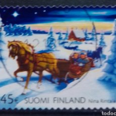 Sellos: FINLANDIA NAVIDAD SELLO USADO. Lote 232778740