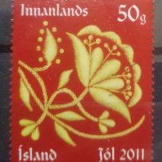 Sellos: ISLANDIA 2011 NAVIDAD SELLO USADO. Lote 232944165