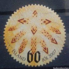 Sellos: ISLANDIA NAVIDAD 2007 SELLO USADO. Lote 232944660