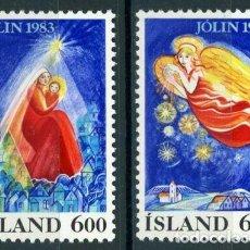 Sellos: ISLANDIA 1983 IVERT 561/2 *** NAVIDAD - LA NATIVIDAD. Lote 233125505