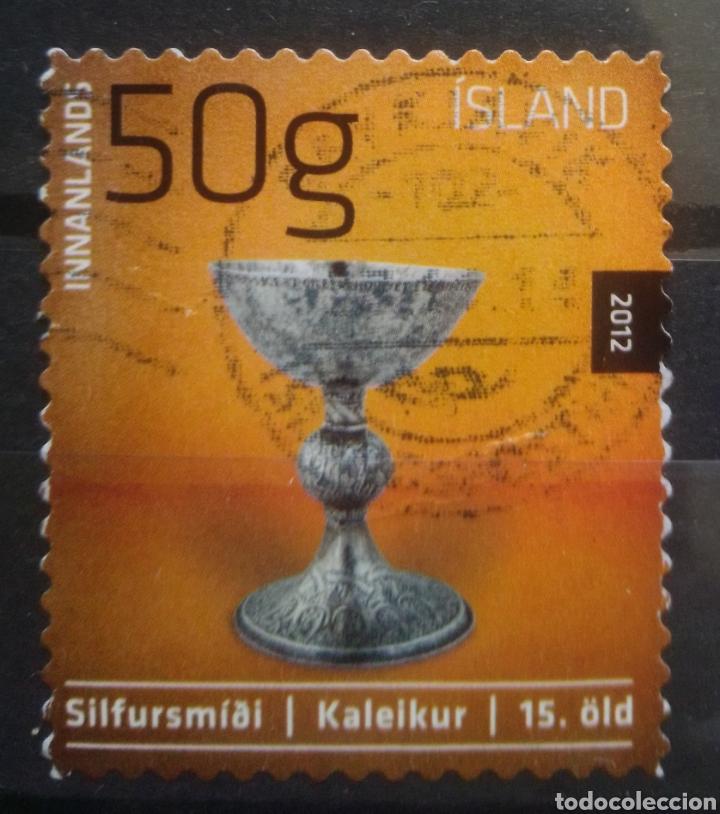 ISLANDIA 2012 ARTE SELLO USADO (Sellos - Extranjero - Europa - Islandia)