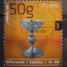 Sellos: ISLANDIA 2012 ARTE SELLO USADO. Lote 235004890