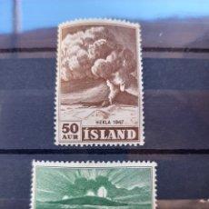 Sellos: (ISLANDIA)(1948) NUEVOS SIN CHARNELA. Lote 235480765