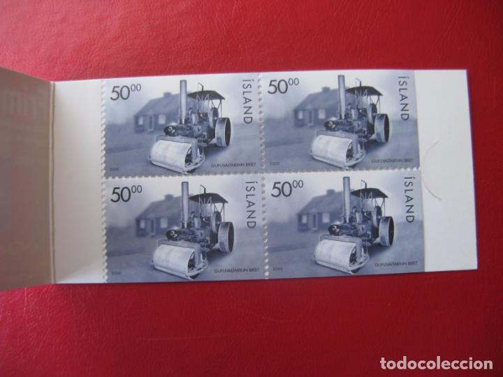 Sellos: islandia, 2000, apisonadora, carné con 4 ejemplares Yvert C888 - Foto 2 - 235543820