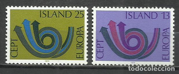 5556-NUEVOS MNH** SERIE COMPLETA ISLANDIA EUROPA 1973 424/5. (Sellos - Extranjero - Europa - Islandia)