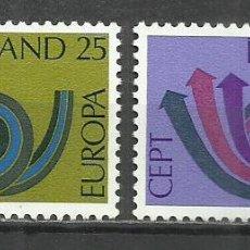 Sellos: 5556-NUEVOS MNH** SERIE COMPLETA ISLANDIA EUROPA 1973 424/5.. Lote 235729025