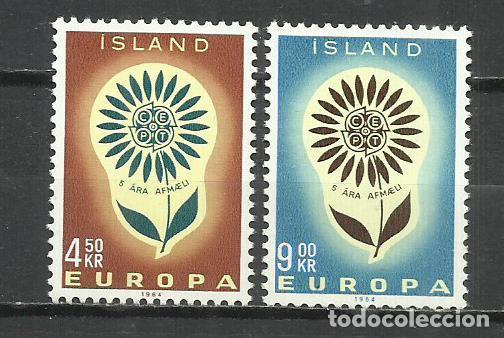 5561-NUEVOS MNH** SERIE COMPLETA ISLANDIA EUROPA 1964 Nº 340/1 (Sellos - Extranjero - Europa - Islandia)