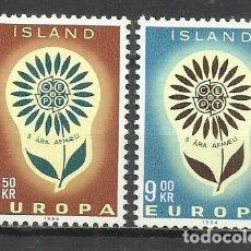 Sellos: 5561-NUEVOS MNH** SERIE COMPLETA ISLANDIA EUROPA 1964 Nº 340/1. Lote 235731690