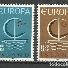 Sellos: 5563-NUEVOS MNH** SERIE COMPLETA ISLANDIA EUROPA 1960 Nº 359/60. Lote 235732305