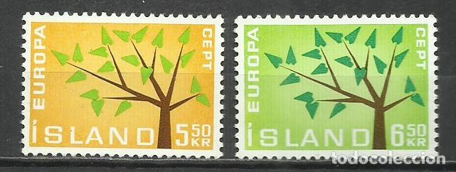 5564-NUEVOS MNH** SERIE COMPLETA ISLANDIA EUROPA 1962 Nº 319/20 (Sellos - Extranjero - Europa - Islandia)