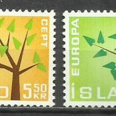 Sellos: 5564-NUEVOS MNH** SERIE COMPLETA ISLANDIA EUROPA 1962 Nº 319/20. Lote 235734635