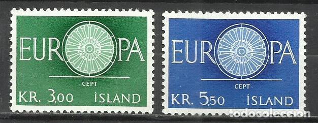5565-NUEVOS MNH** SERIE COMPLETA ISLANDIA EUROPA 1960 Nº301/2 (Sellos - Extranjero - Europa - Islandia)