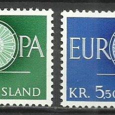 Sellos: 5565-NUEVOS MNH** SERIE COMPLETA ISLANDIA EUROPA 1960 Nº301/2. Lote 235735000