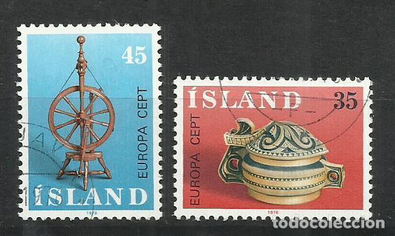 5568- SERIE COMPLETA ISLANDIA EUROPA 1976 Nº 467/8 BONITOS. (Sellos - Extranjero - Europa - Islandia)