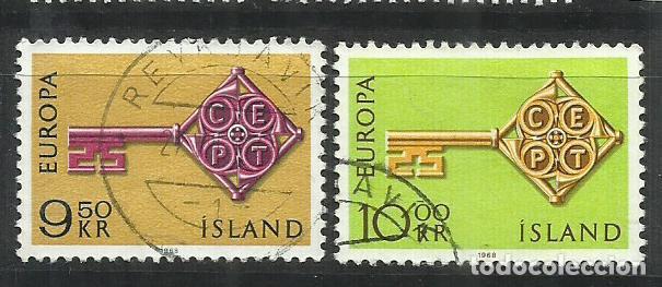 5570- SERIE COMPLETA ISLANDIA EUROPA 1968 Nº 372/3 BONITOS. (Sellos - Extranjero - Europa - Islandia)