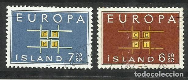5572- SERIE COMPLETA ISLANDIA EUROPA 1963 Nº 328/9 BONITOS. (Sellos - Extranjero - Europa - Islandia)
