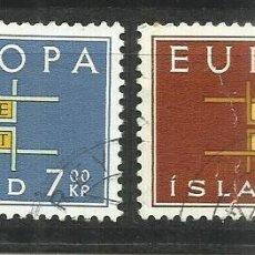Sellos: 5572- SERIE COMPLETA ISLANDIA EUROPA 1963 Nº 328/9 BONITOS.. Lote 235784985