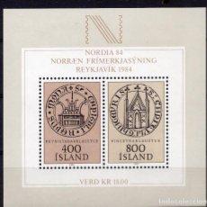 Sellos: ISLANDIA, 1982 , SOUVENIR-SHEET , MICHEL BL4. Lote 236074500