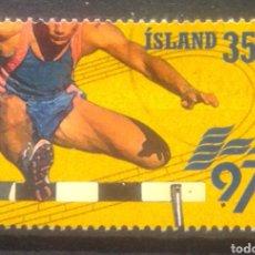 Sellos: ISLANDIA CAMPEONATO MUNDIAL ATLETISMO 1997 SELLO USADO. Lote 273593608
