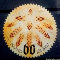 Sellos: ISLANDIA 2007 NAVIDAD SELLO USADO. Lote 276223498