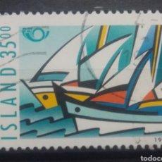 Sellos: ISLANDIA 1998 BARCOS VELEROS SELLO USADO. Lote 272154198