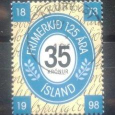 Selos: ISLANDIA 1998 CENTENARIO SELLO ISLANDES SELLO USADO. Lote 263877770