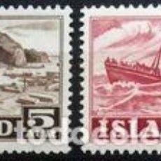 Sellos: SELLOS USADOS DE ISLANDIA 1954, YT 254/ 55. Lote 243839175