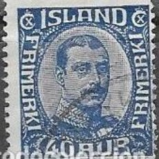 Sellos: SELLO USADO DE ISLANDIA 1922 YT 109, FOTO ORIGINAL. Lote 244574105