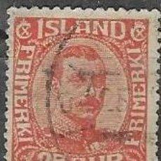 Sellos: SELLO USADO DE ISLANDIA 1922 YT 108, FOTO ORIGINAL. Lote 244574295