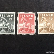 Sellos: ISLANDIA Nº YVERT 283/5*** AÑO 1958-0. FAUNA. CABALLO. Lote 244617490