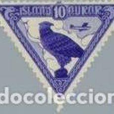 Sellos: SELLO NUEVO CON CHARNELA DE ISLANDIA 1930, CORREO AEREO YT 3. Lote 244823875