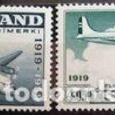 Sellos: SELLOS NUEVOS DE ISLANDIA 1959, CORREO AEREO YT 30/ 31. Lote 244842775