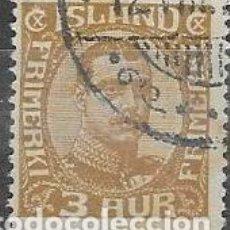Sellos: SELLO USADO DE ISLANDIA 1920, YT 83, FOTO ORIGINAL. Lote 246084575