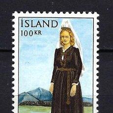 Sellos: 1965 ISLANDIA MICHEL 398 YVERT 379 TRAJE NACIONAL MNH** NUEVO SIN FIJASELLOS. Lote 246644465
