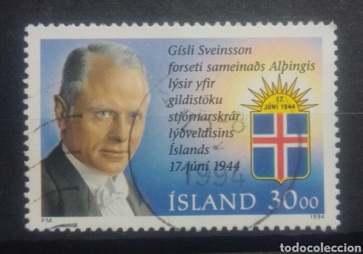 ISLANDIA 1994 CELEBRIDADES SELLO USADO (Sellos - Extranjero - Europa - Islandia)