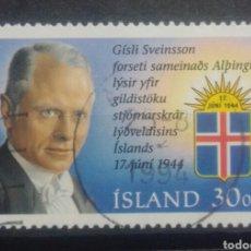 Sellos: ISLANDIA 1994 CELEBRIDADES SELLO USADO. Lote 249447310