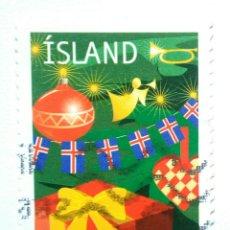 Sellos: ISLANDIA 2002 NAVIDAD SELLO USADO. Lote 253411200