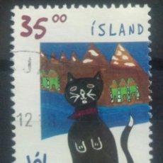 Sellos: ISLANDIA 1998 GATO SELLO USADO. Lote 253413570