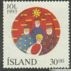 Sellos: ISLANDIA 1993 NAVIDAD SELLO USADO. Lote 253414465