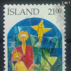 Sellos: ISLANDIA 1989 NAVIDAD SELLO USADO. Lote 253443255