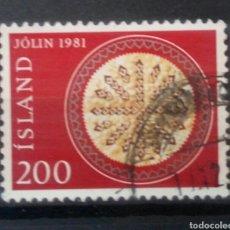 Sellos: ISLANDIA 1981 NAVIDAD SELLO USADO. Lote 253445895