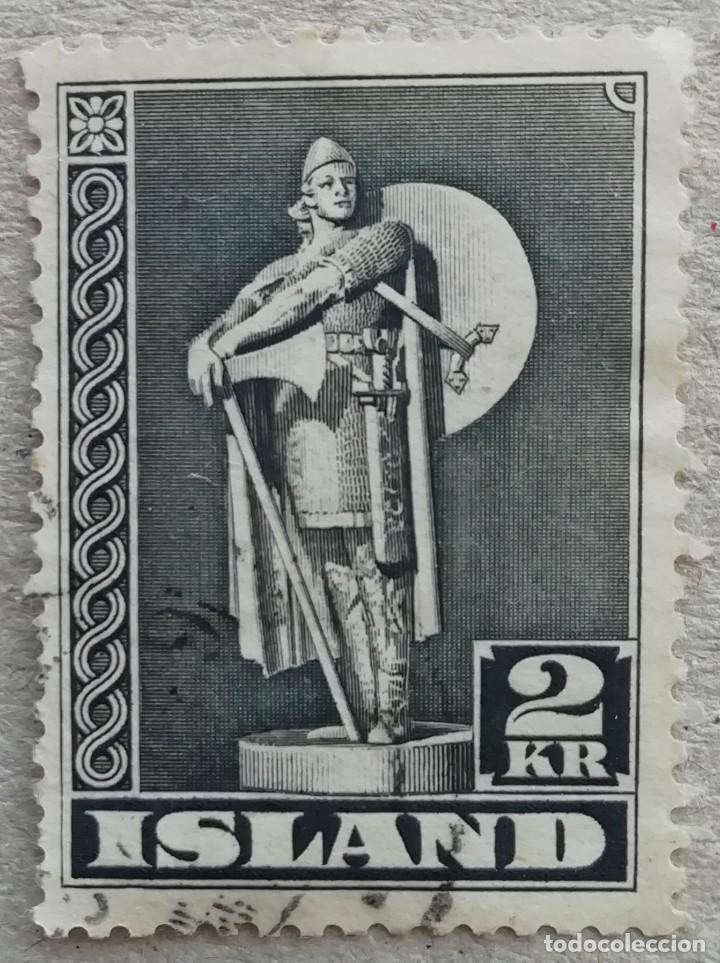 1939. ISLANDIA. 186. MONUMENTO AL PRIMER COLONO EN AMÉRICA DEL NORTE THORFINNUR KARLSEFNI. USADO. (Sellos - Extranjero - Europa - Islandia)