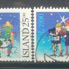 Sellos: ISLANDIA 1990 NAVIDAD SERIE DE SELLOS USADOS. Lote 253604190