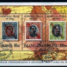 Sellos: GIROEXLIBRIS.- ISLANDIA.- 1993 H. 14. DÍA DEL SELLO. LX ANIVERSARIO DEL VUELO ROMA - ESTADOS UNIDOS. Lote 253789895