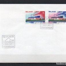 Sellos: FDC, SOBRE DE PRIMER DÍA DE EMISIÓN DE ISLANDIA -NORDEN-, AÑO 1973. Lote 255394925