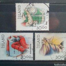 Sellos: ISLANDIA DEPORTES SERIE DE SELLOS USADOS. Lote 258258680